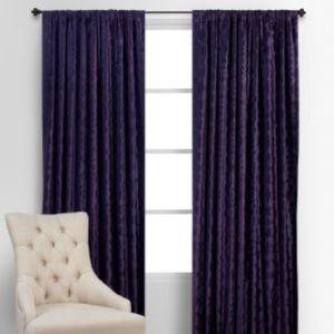 """2 Z Gallerie Benito Velvet 54""""x96"""" Curtain Panels"""